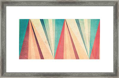 Vintage Beach Framed Print by VessDSign