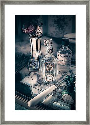 Vintage Beauty Items Framed Print by Julie Palencia