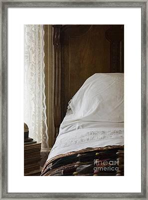 Vintage Bedding Framed Print