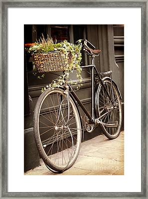 Vintage Bicycle Framed Print by Jane Rix