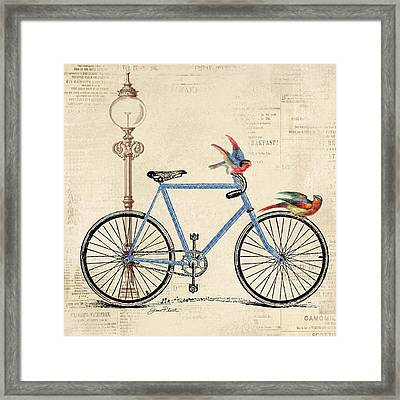 Vintage Bike-b Framed Print