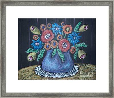 Vintage Blooms Framed Print by Karla Gerard