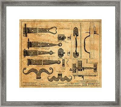Vintage Blueprints 5 Framed Print by Andrew Fare