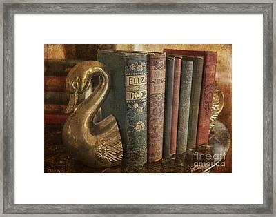 Vintage Books Framed Print by Arlene Carmel