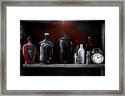 Vintage Bottles Framed Print