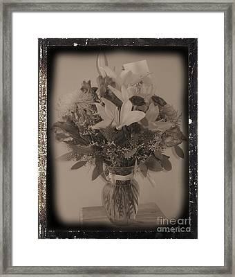 Vintage Bouquet Framed Print by Margaret Newcomb