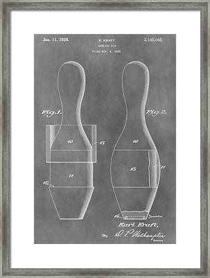 Vintage Bowling Pins Patent Framed Print