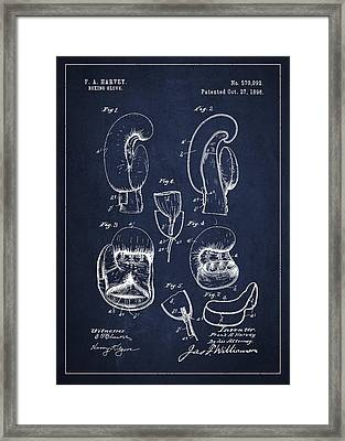 Vintage Boxing Glove Patent Drawing From 1896 Framed Print