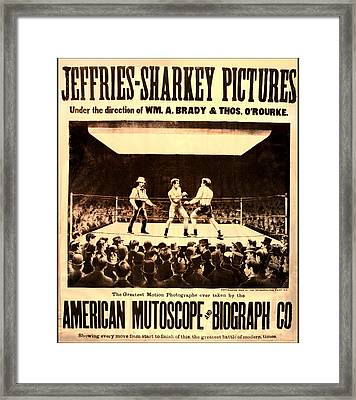 Vintage Boxing Movie Poster Framed Print by Bill Cannon