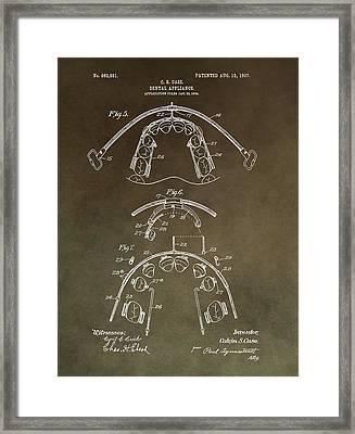 Vintage Braces Patent Framed Print