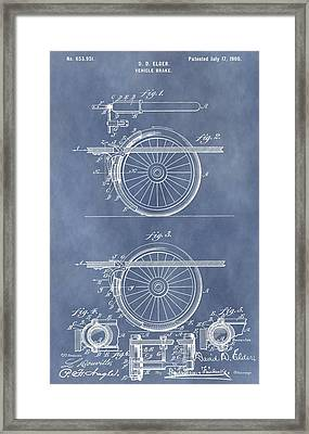 Vintage Brake Patent Framed Print by Dan Sproul