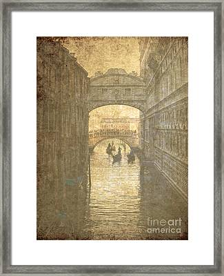 Vintage Bridge Of Sighs Framed Print