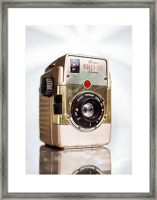 Vintage Brownie Bullseye Camera Framed Print by Jon Woodhams