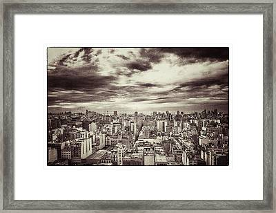 Vintage Buenos Aires Panorama Framed Print