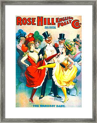 Vintage Burlesque Playbill 1899 Framed Print by Padre Art