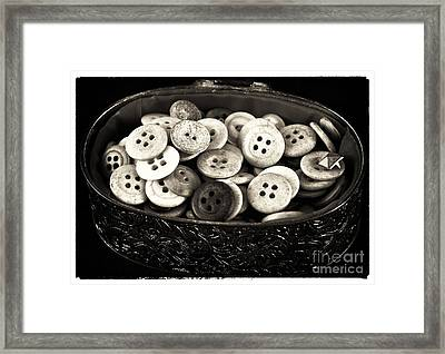Vintage Button Treasure Framed Print by John Rizzuto