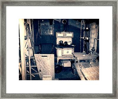 Vintage Cabin Interior Framed Print by Phil Perkins