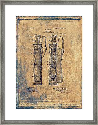 Vintage Caddy Bag Patent - 1905 Framed Print by Maria Angelica Maira