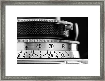 Vintage Camera Focus Adjustment Closeup Framed Print by Kevin Grant