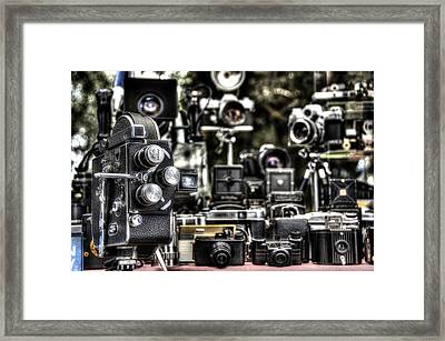 Vintage Camera Framed Print by Marco Oliveira
