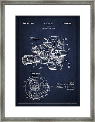 Vintage Camera Patent Drawing From 1938 Framed Print by Aged Pixel