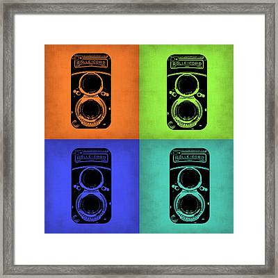 Vintage Camera Pop Art 1 Framed Print by Naxart Studio