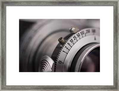 Vintage Camera Shutter Adjustment Closeup Framed Print by Kevin Grant