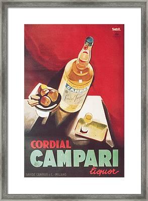 Vintage Campari Framed Print