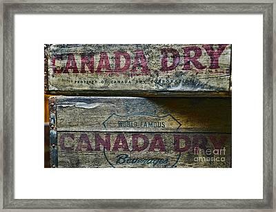 Vintage Canada Dry Framed Print