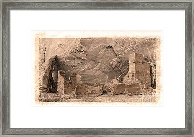 Vintage Canyon De Chelly Framed Print by Jerry Fornarotto
