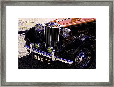 Vintage Car Art 51 Mg Td Copper Framed Print