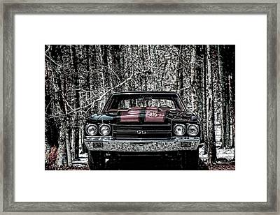 Vintage Car Art Chevy Chevelle Ss Selective Framed Print