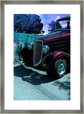 Vintage Ford Car Art II Framed Print by Lesa Fine