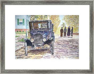 Vintage Car Richmondtown Framed Print by Anthony Butera