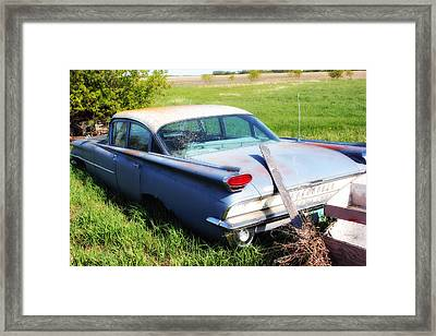 Framed Print featuring the photograph Vintage Car by Ryan Crouse