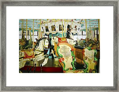 Framed Print featuring the photograph Vintage Carosel by Debra Crank