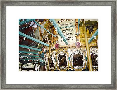 Framed Print featuring the photograph Vintage Carousel by Debra Crank