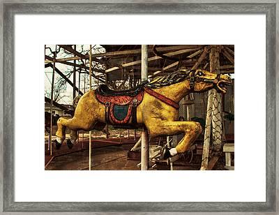 Vintage Carousel Horses 013 Framed Print