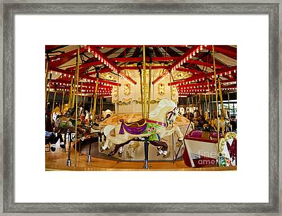 Framed Print featuring the photograph Vintage Carousel by Maria Janicki