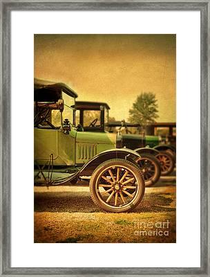 Vintage Cars Framed Print by Jill Battaglia
