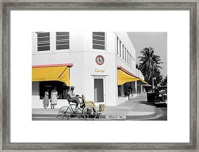 Vintage Cartier Store Framed Print