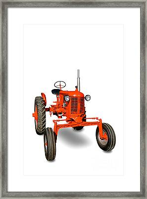 Vintage Case Tractor Framed Print by Olivier Le Queinec