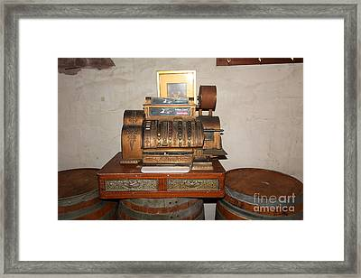 Vintage Cash Register At The Swiss Hotel In Sonoma California 5d24440 Framed Print by Wingsdomain Art and Photography