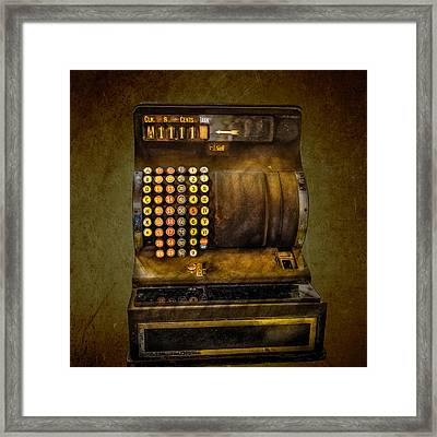 Vintage Cash Register Framed Print