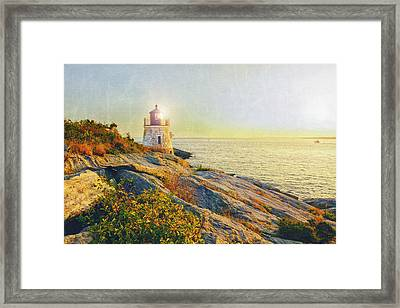 Vintage Castle Hill Light Framed Print by Marianne Campolongo