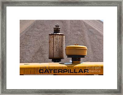 Vintage Caterpillar Machine Framed Print by Les Palenik