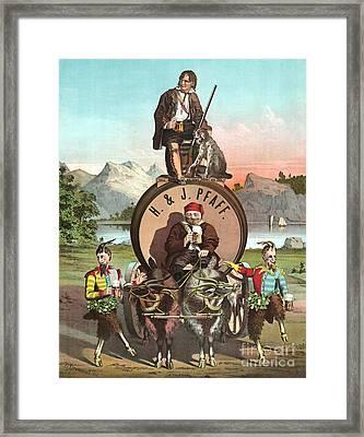 Vintage Celebrity Endorsement 1870 Framed Print