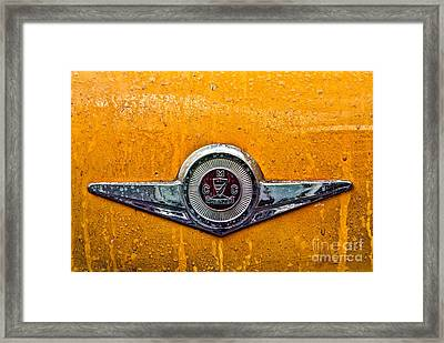 Vintage Checker Taxi Framed Print