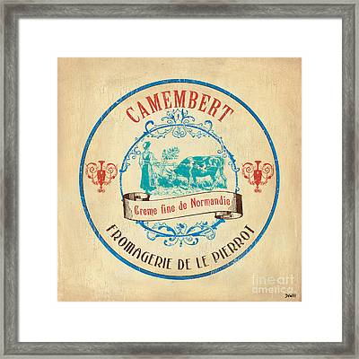 Vintage Cheese Label 3 Framed Print by Debbie DeWitt