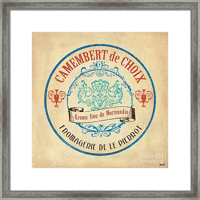 Vintage Cheese Label 4 Framed Print by Debbie DeWitt